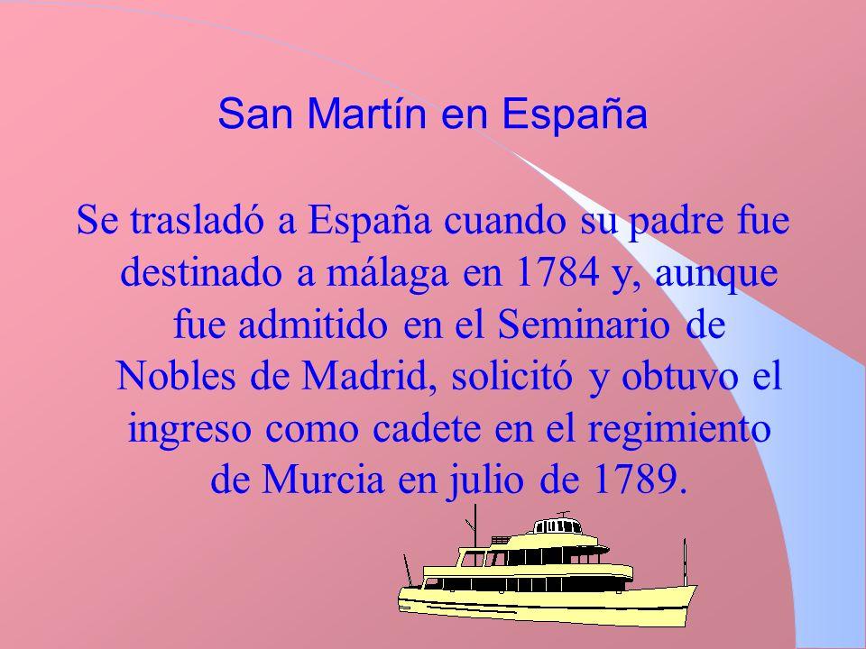 San Martín en España
