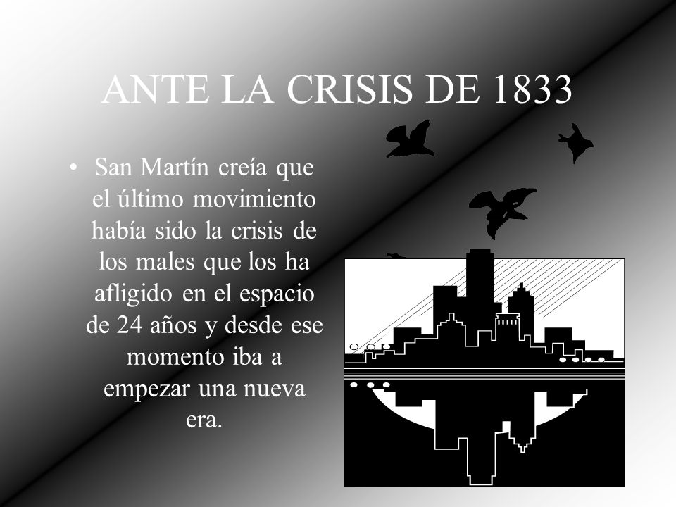 ANTE LA CRISIS DE 1833