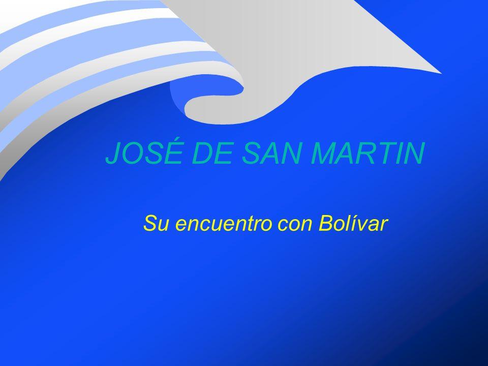 Su encuentro con Bolívar