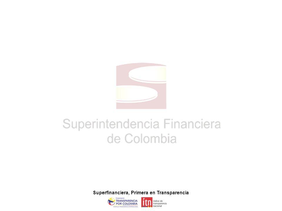 Superfinanciera, Primera en Transparencia