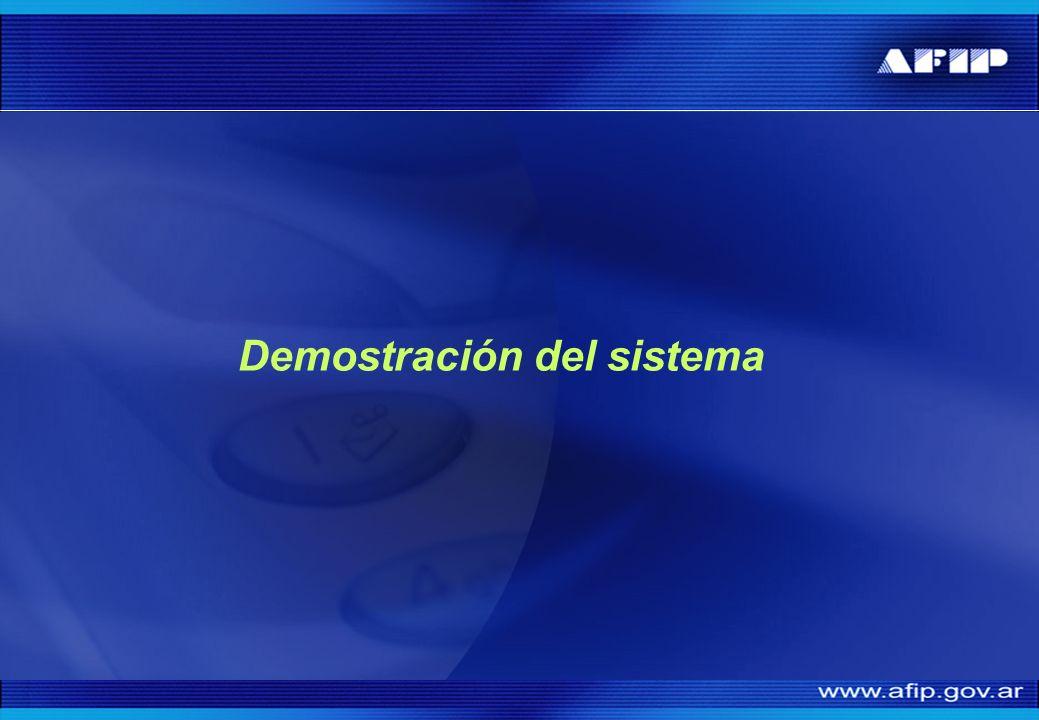 Demostración del sistema