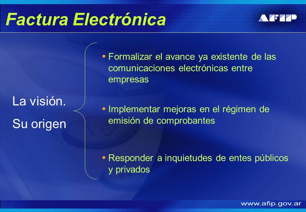 Factura Electrónica La visión. Su origen