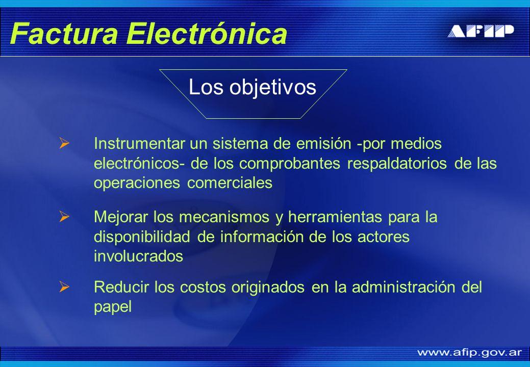 Factura Electrónica Los objetivos