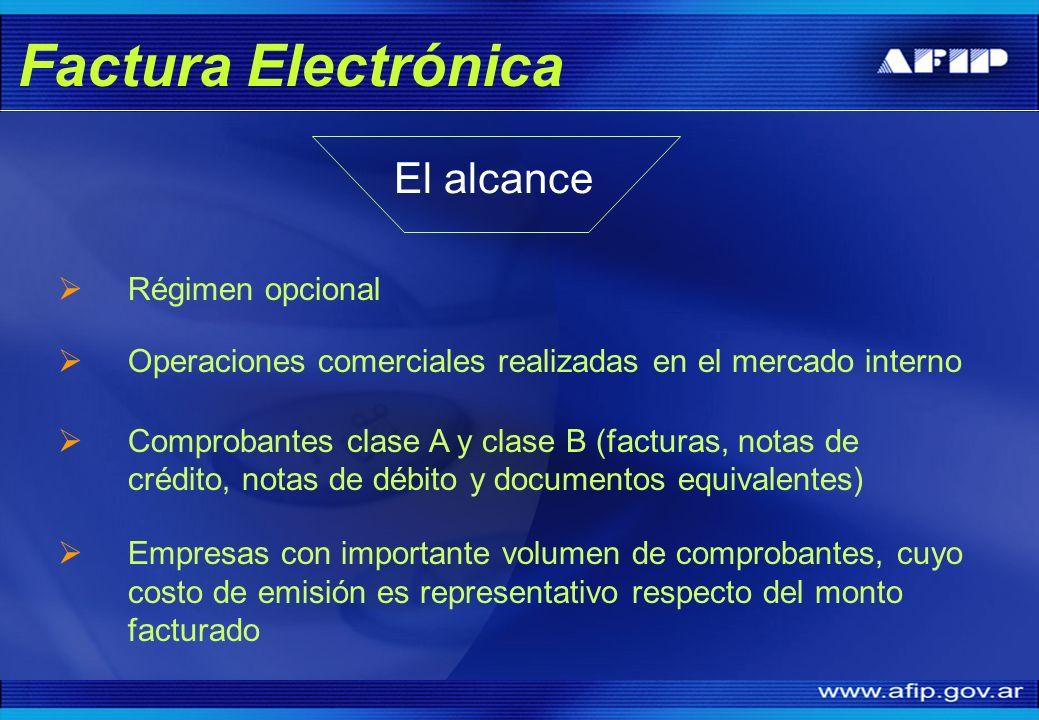 Factura Electrónica El alcance Régimen opcional
