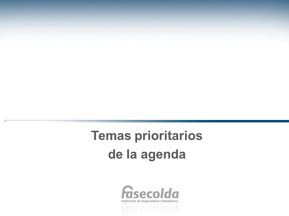 Temas prioritarios de la agenda
