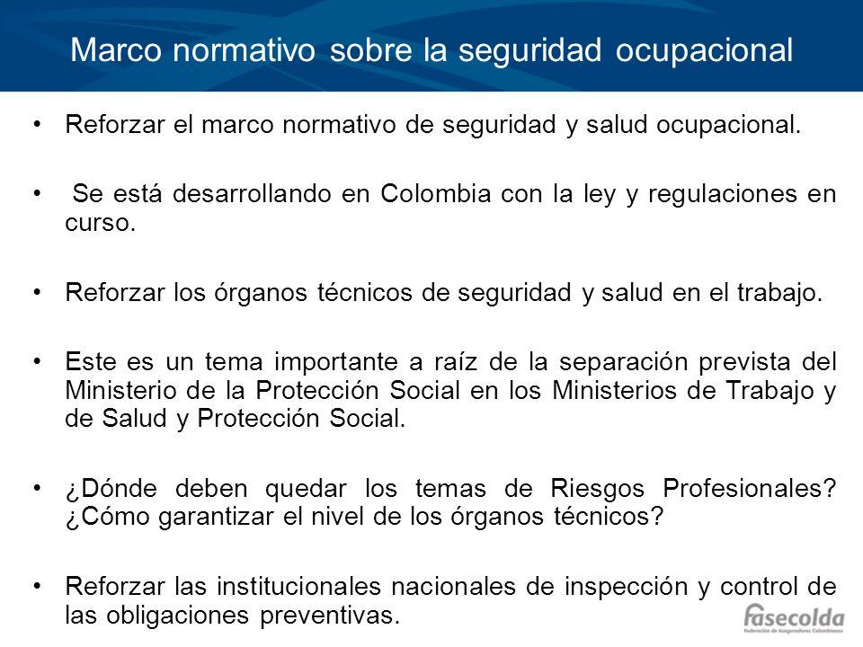 Marco normativo sobre la seguridad ocupacional