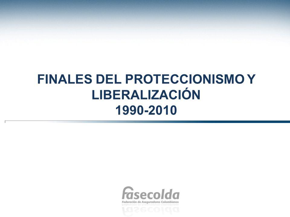Finales del proteccionismo y liberalización 1990-2010