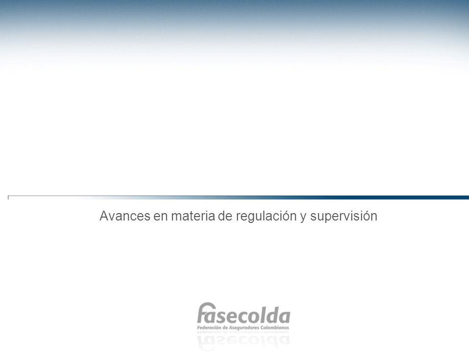 Avances en materia de regulación y supervisión