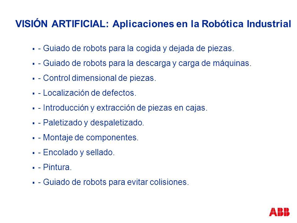 VISIÓN ARTIFICIAL: Aplicaciones en la Robótica Industrial