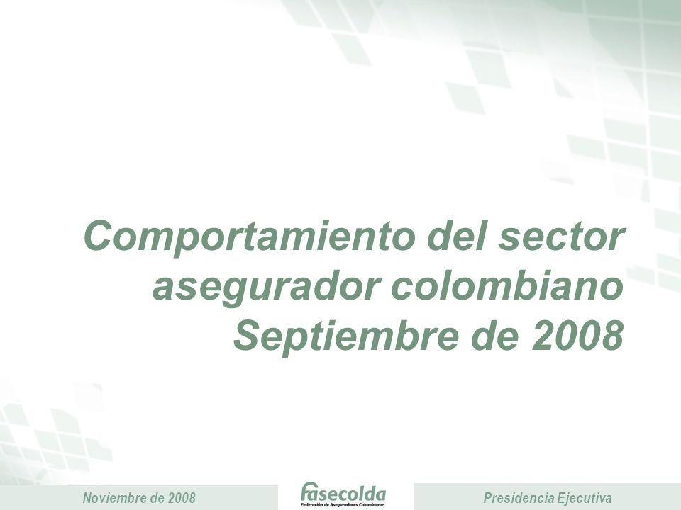 Comportamiento del sector asegurador colombiano Septiembre de 2008