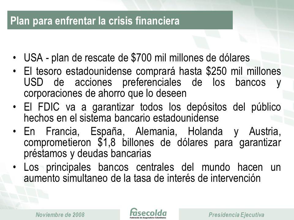 Plan para enfrentar la crisis financiera