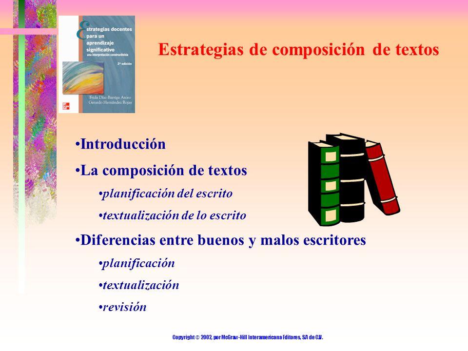Estrategias de composición de textos