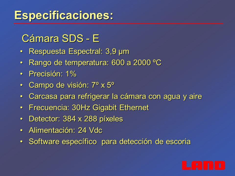 Especificaciones: Respuesta Espectral: 3,9 µm