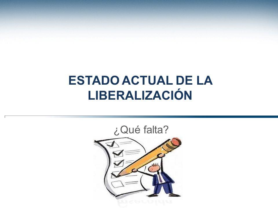 Estado actual de la liberalización