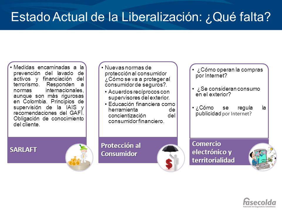 Estado Actual de la Liberalización: ¿Qué falta