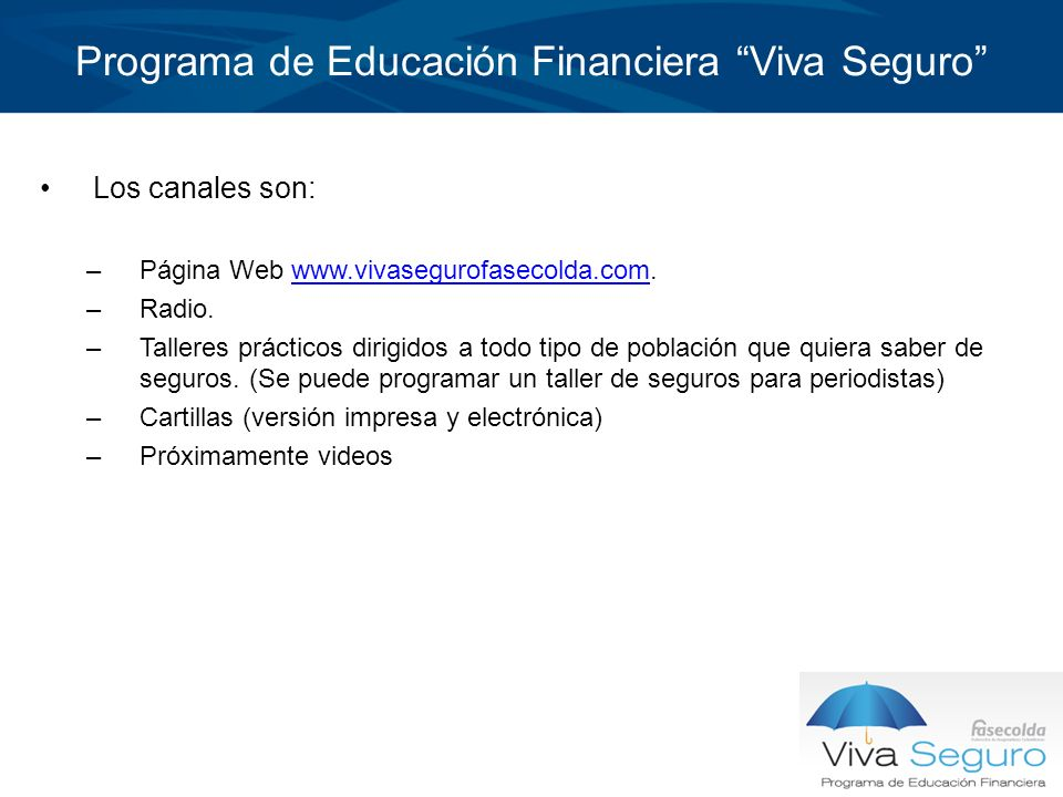 Programa de Educación Financiera Viva Seguro