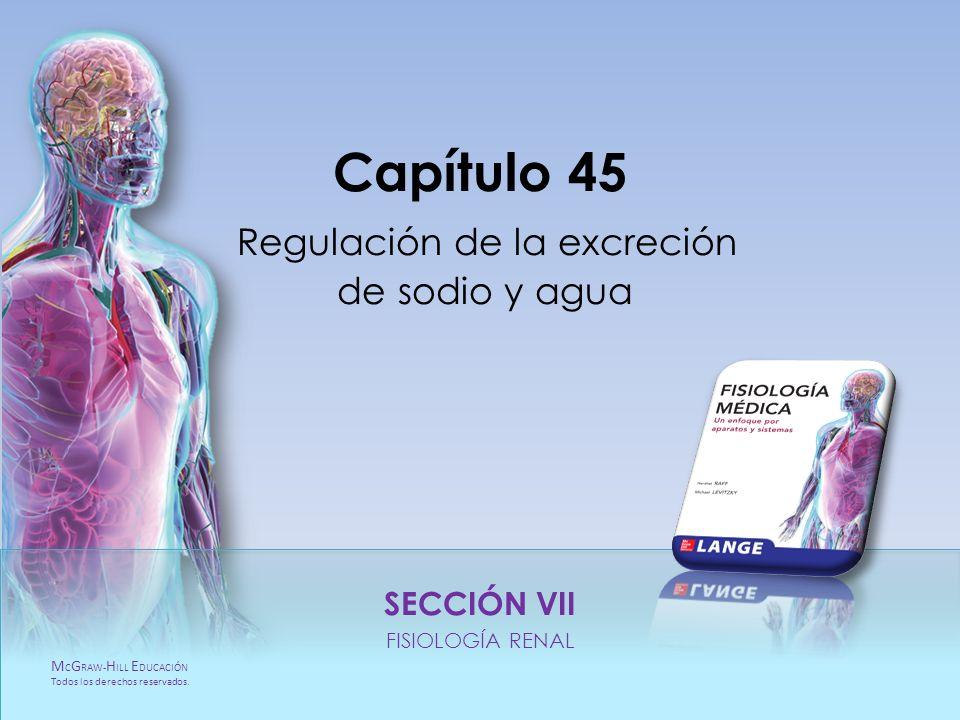 Capítulo 45 Regulación de la excreción de sodio y agua