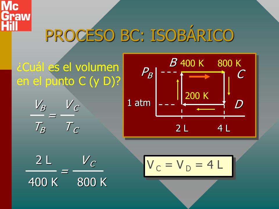PROCESO BC: ISOBÁRICO B C PB D