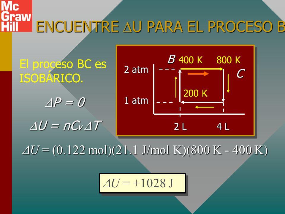 ENCUENTRE U PARA EL PROCESO BC.