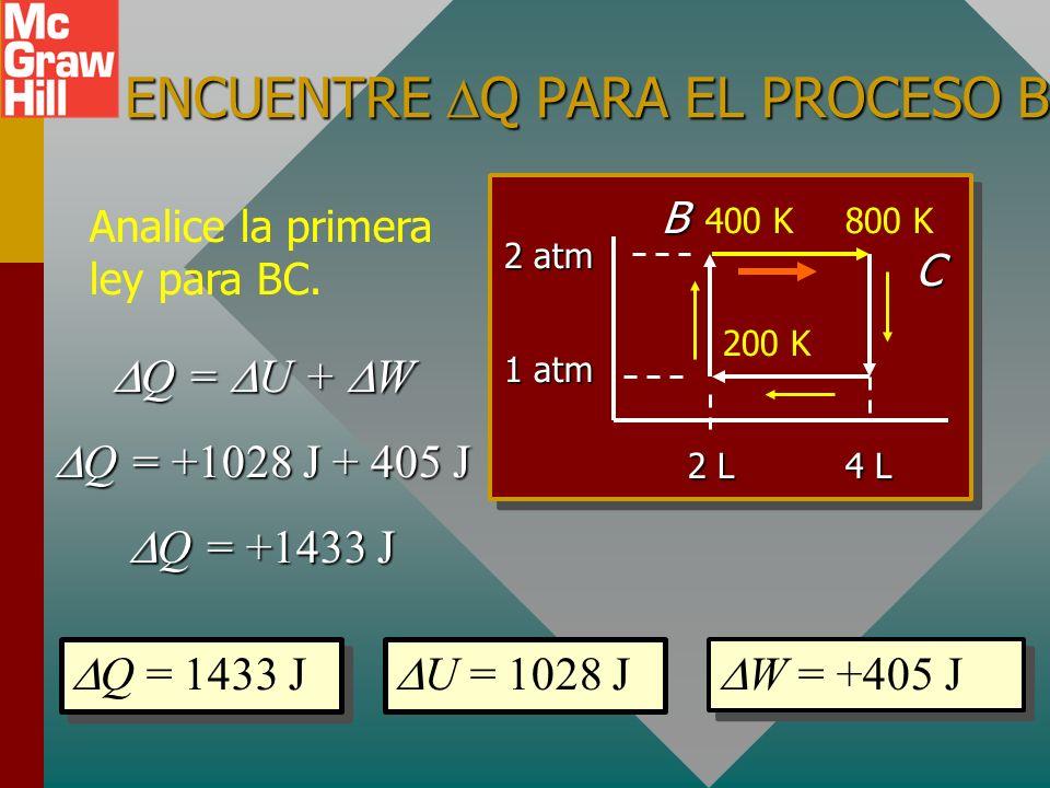 ENCUENTRE Q PARA EL PROCESO BC.