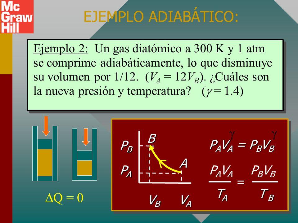 EJEMPLO ADIABÁTICO: Q = 0