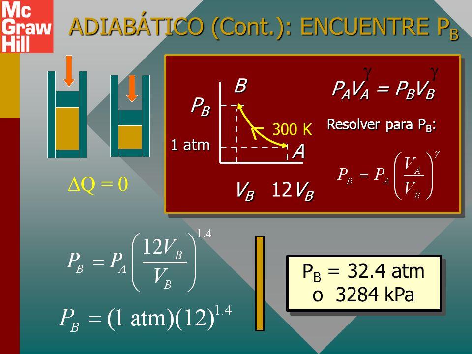 ADIABÁTICO (Cont.): ENCUENTRE PB