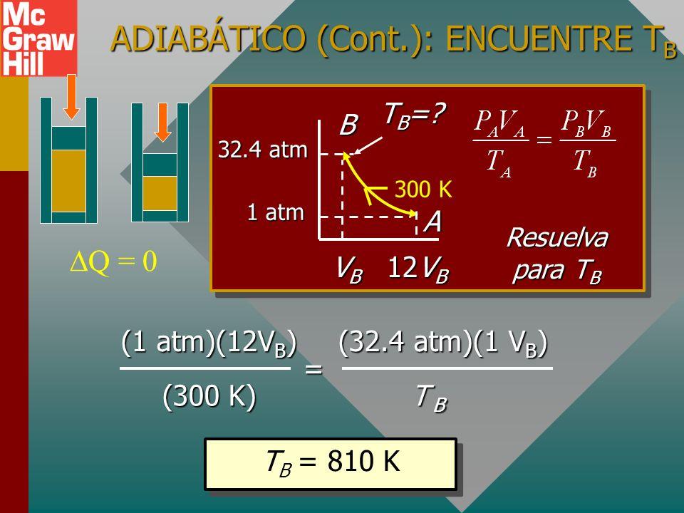 ADIABÁTICO (Cont.): ENCUENTRE TB