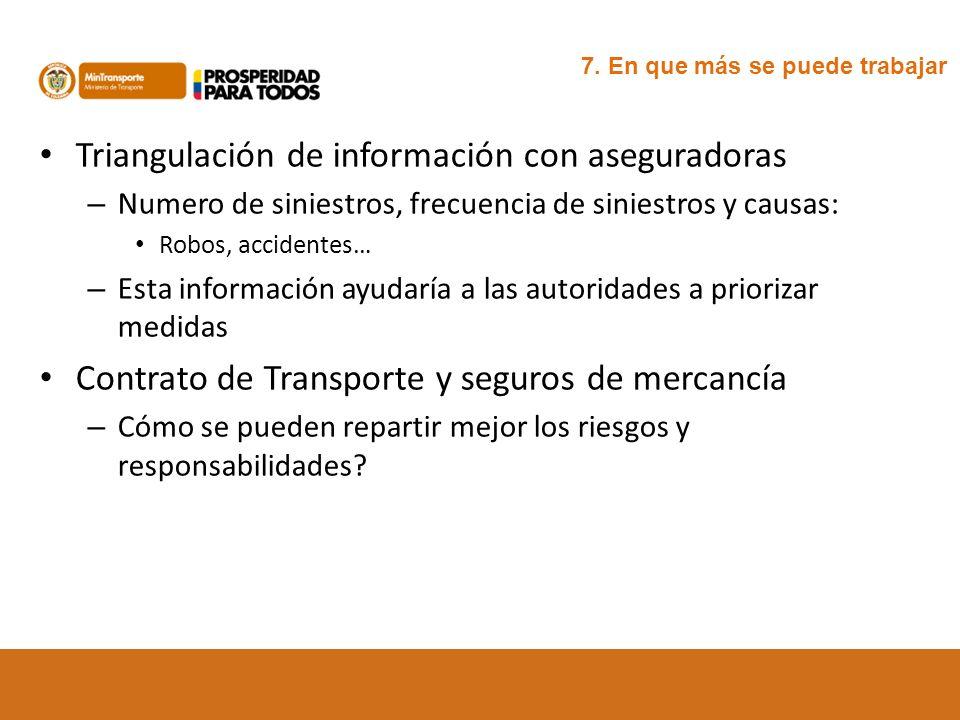 Triangulación de información con aseguradoras