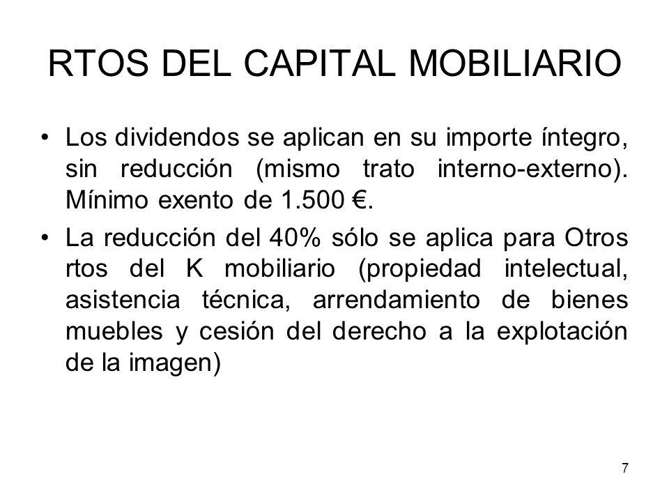 RTOS DEL CAPITAL MOBILIARIO