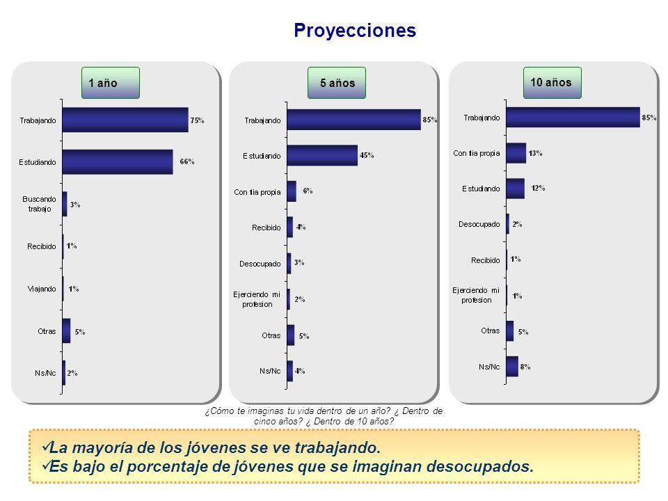 Proyecciones La mayoría de los jóvenes se ve trabajando.
