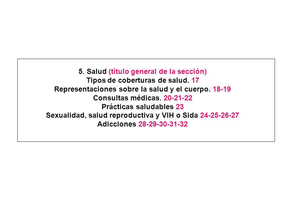 5. Salud (título general de la sección)