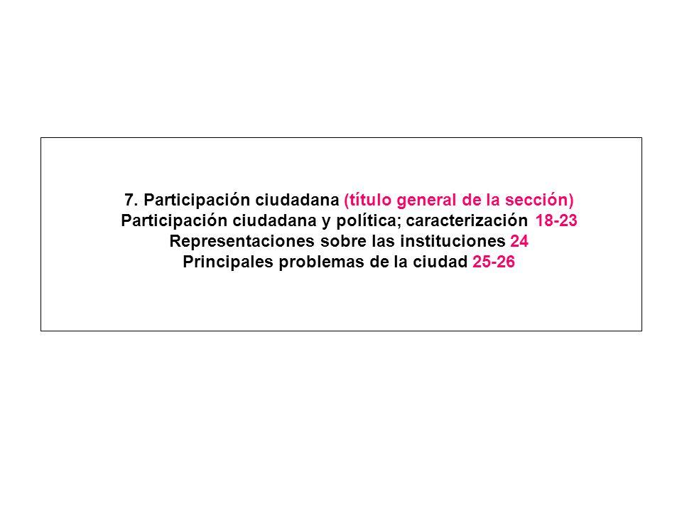 7. Participación ciudadana (título general de la sección)