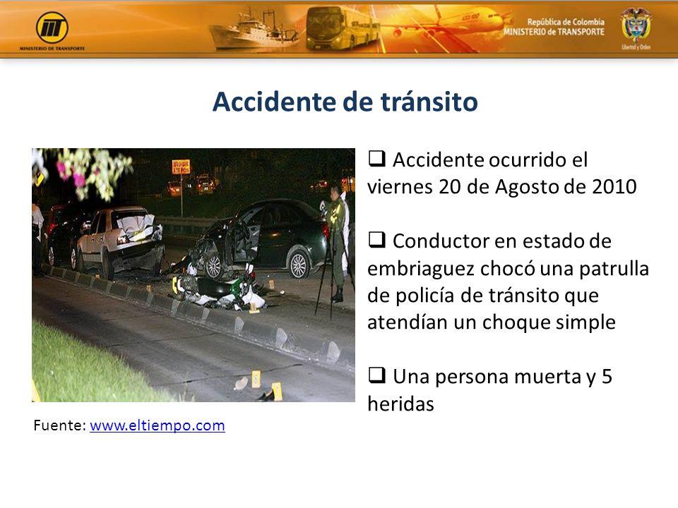 Accidente de tránsito Accidente ocurrido el viernes 20 de Agosto de 2010.