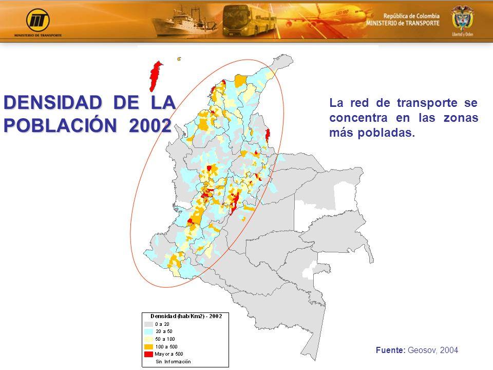 DENSIDAD DE LA POBLACIÓN 2002