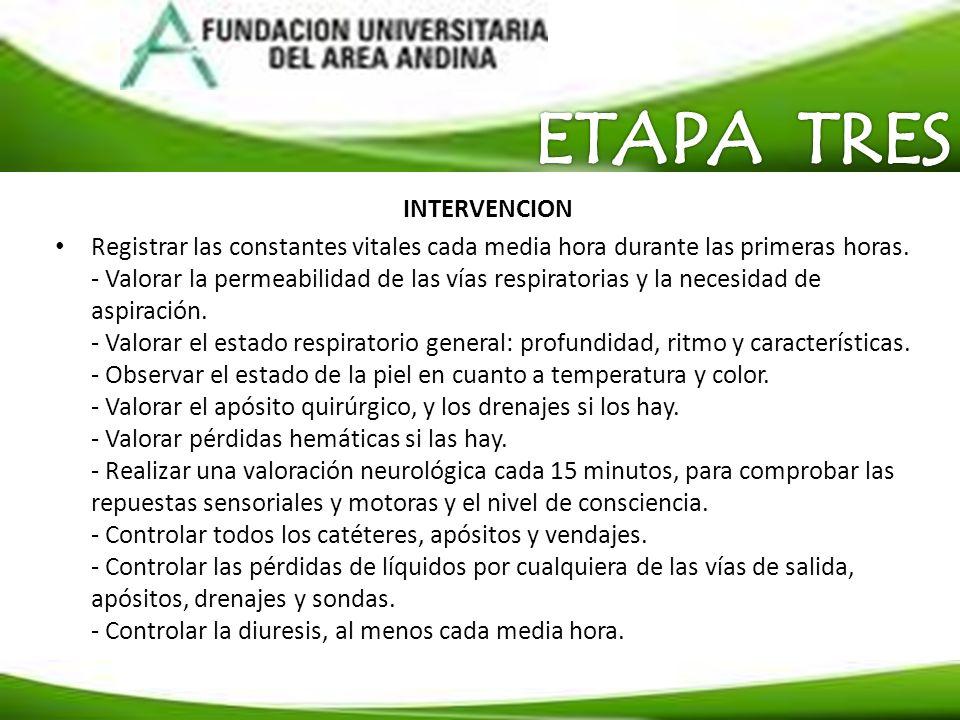 ETAPA TRES INTERVENCION