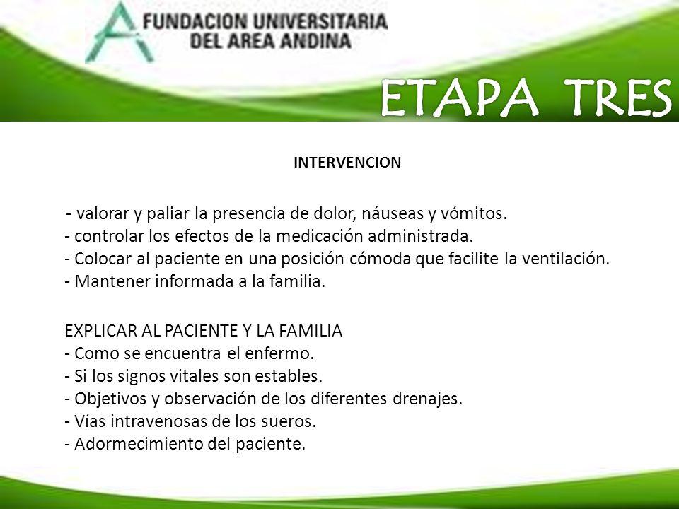 ETAPA TRES INTERVENCION.