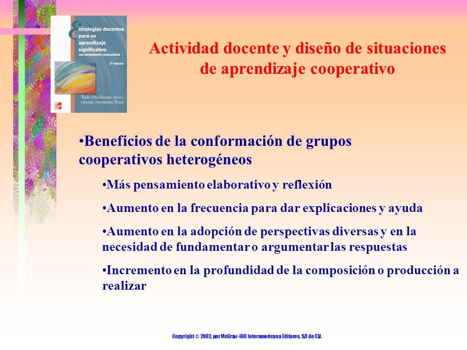 Actividad docente y diseño de situaciones de aprendizaje cooperativo