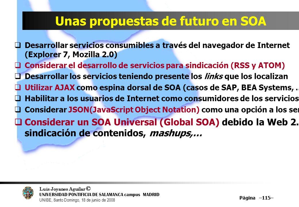 Unas propuestas de futuro en SOA