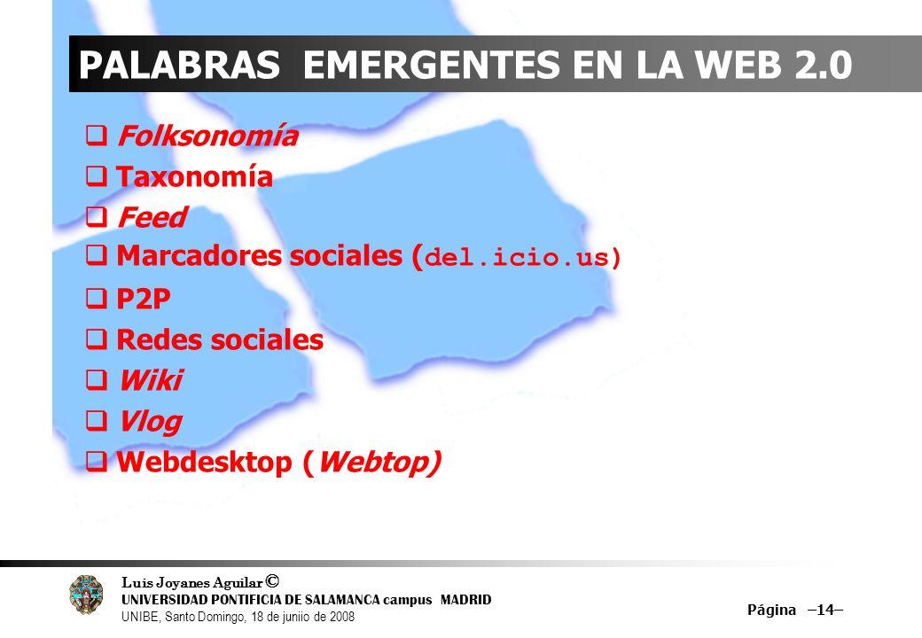 PALABRAS EMERGENTES EN LA WEB 2.0
