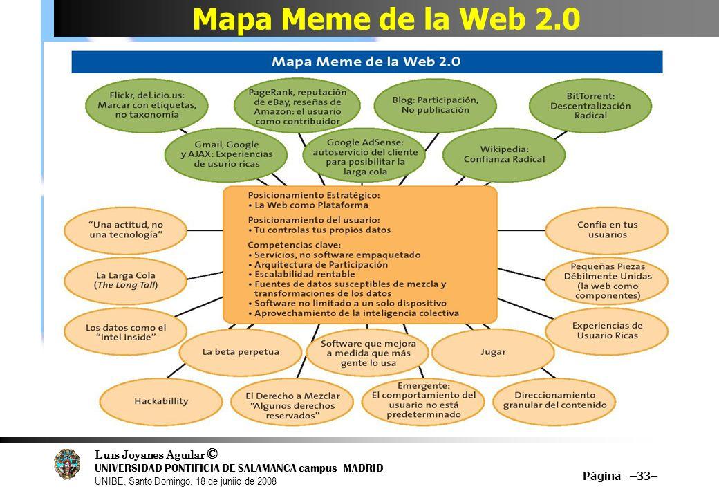 Mapa Meme de la Web 2.0 Página –33–