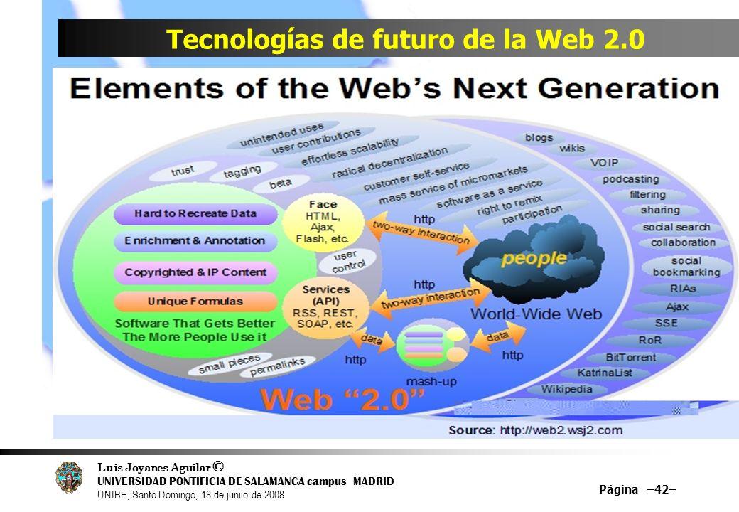 Tecnologías de futuro de la Web 2.0