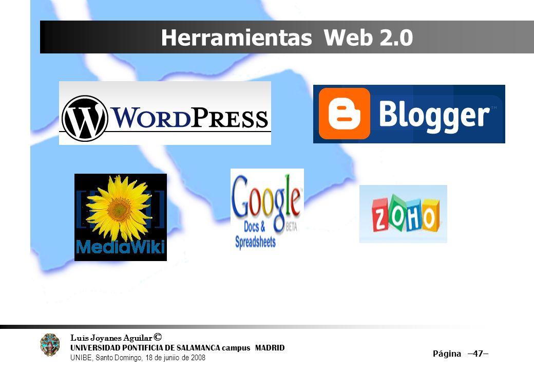 Herramientas Web 2.0 Página –47–