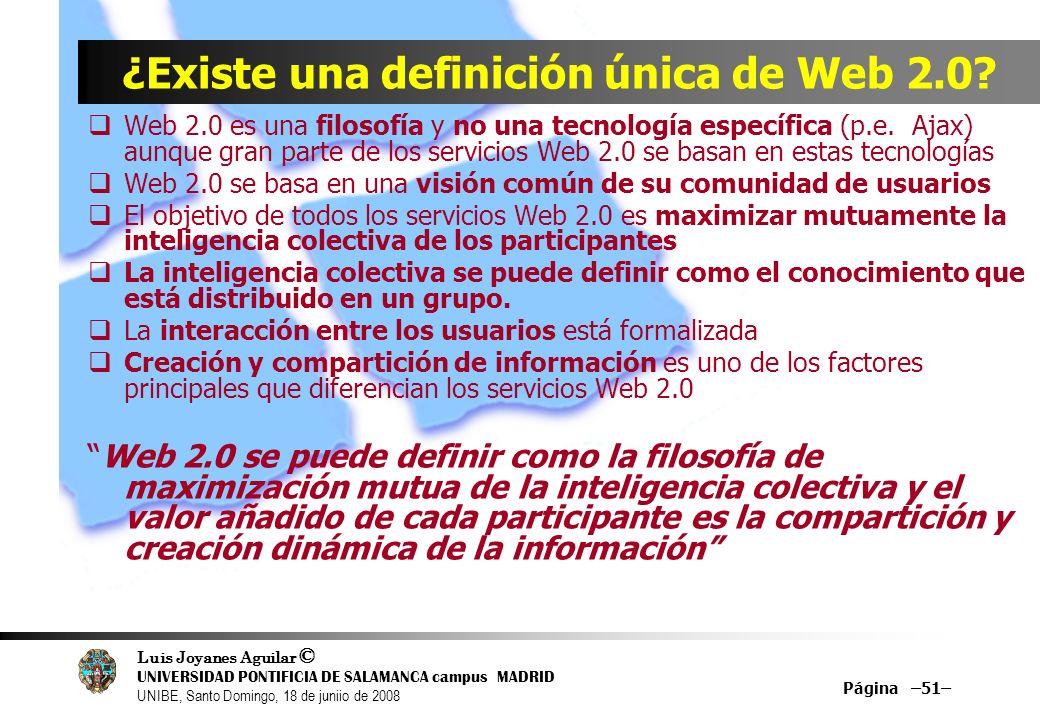 ¿Existe una definición única de Web 2.0