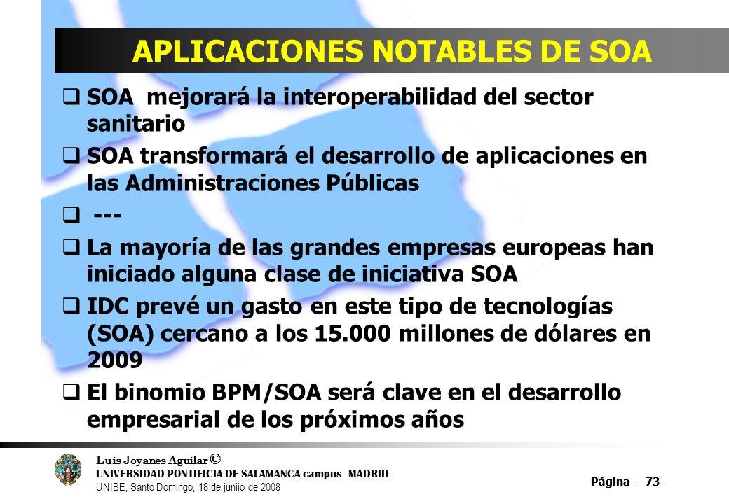 APLICACIONES NOTABLES DE SOA