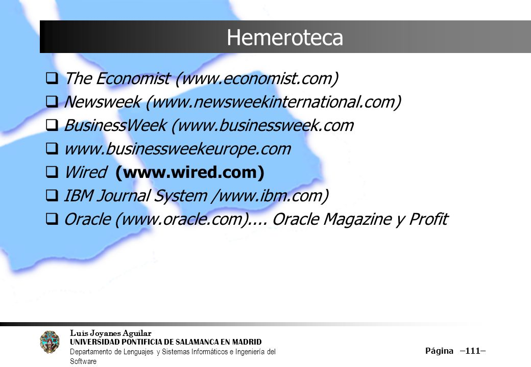 Hemeroteca The Economist (