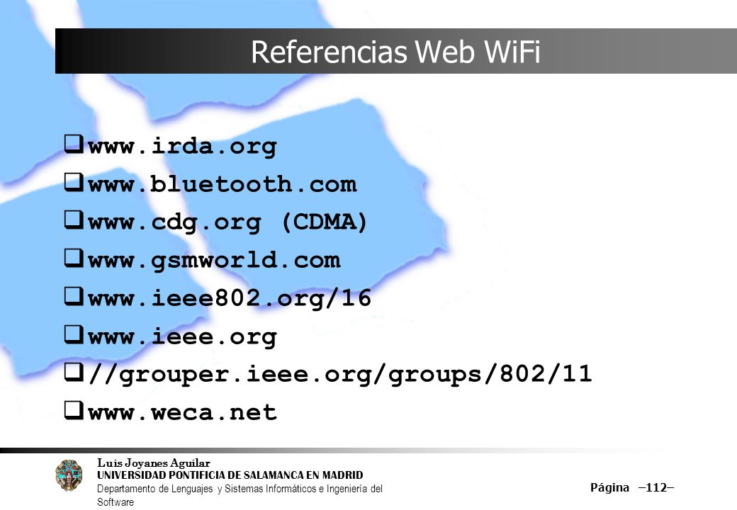 Referencias Web WiFi (CDMA)