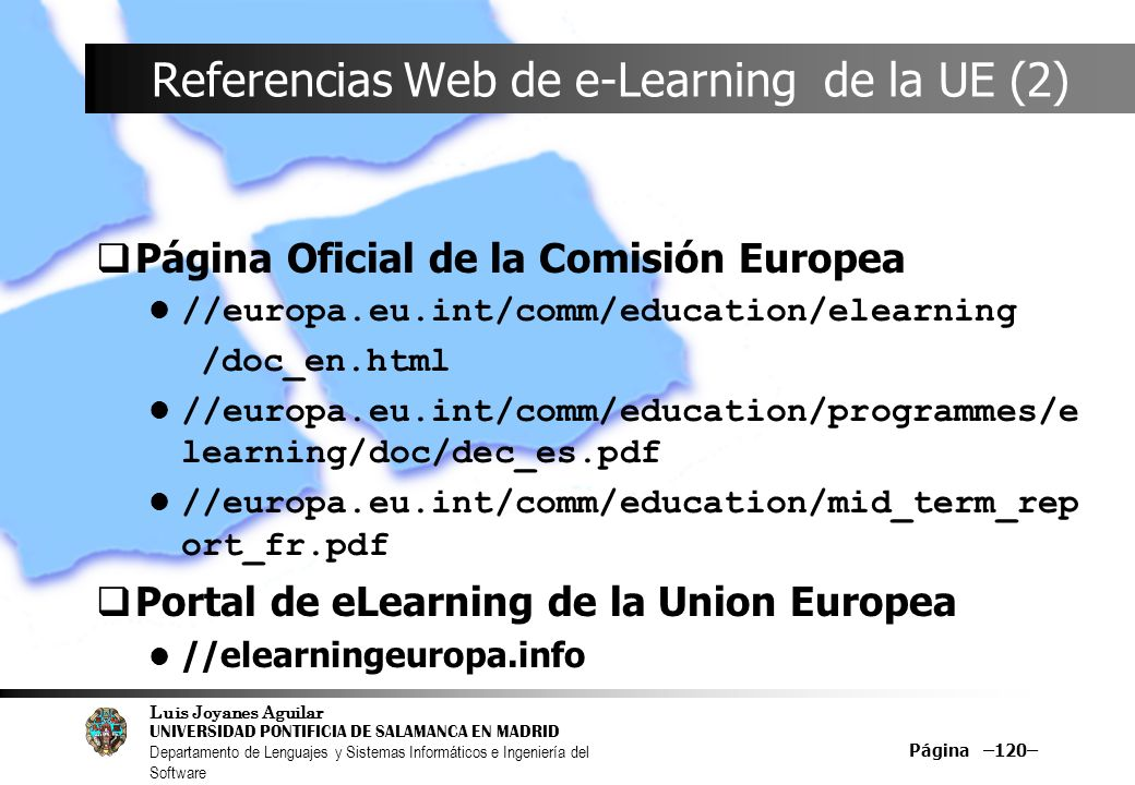 Referencias Web de e-Learning de la UE (2)