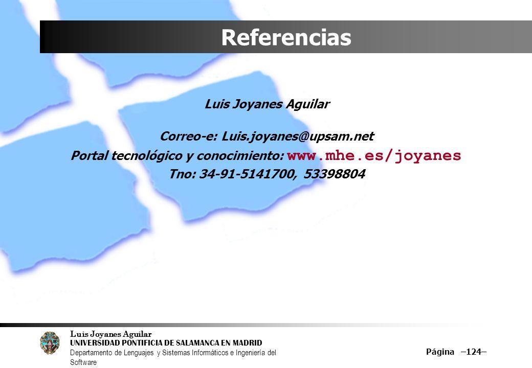 Referencias Luis Joyanes Aguilar Correo-e: Luis.joyanes@upsam.net