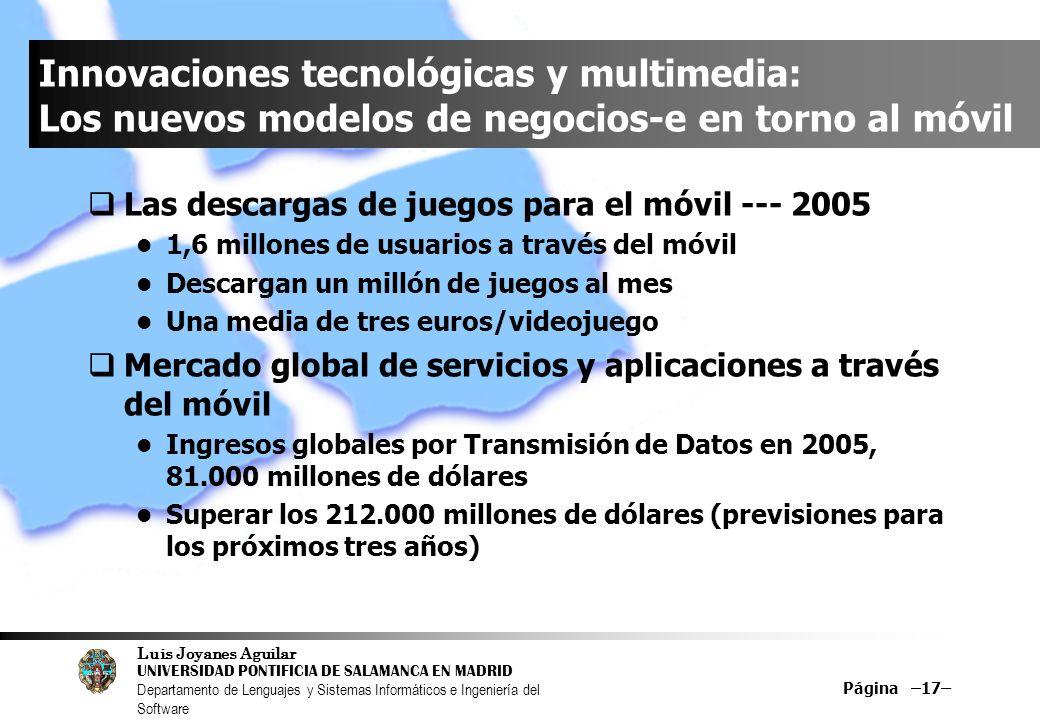 Innovaciones tecnológicas y multimedia: Los nuevos modelos de negocios-e en torno al móvil