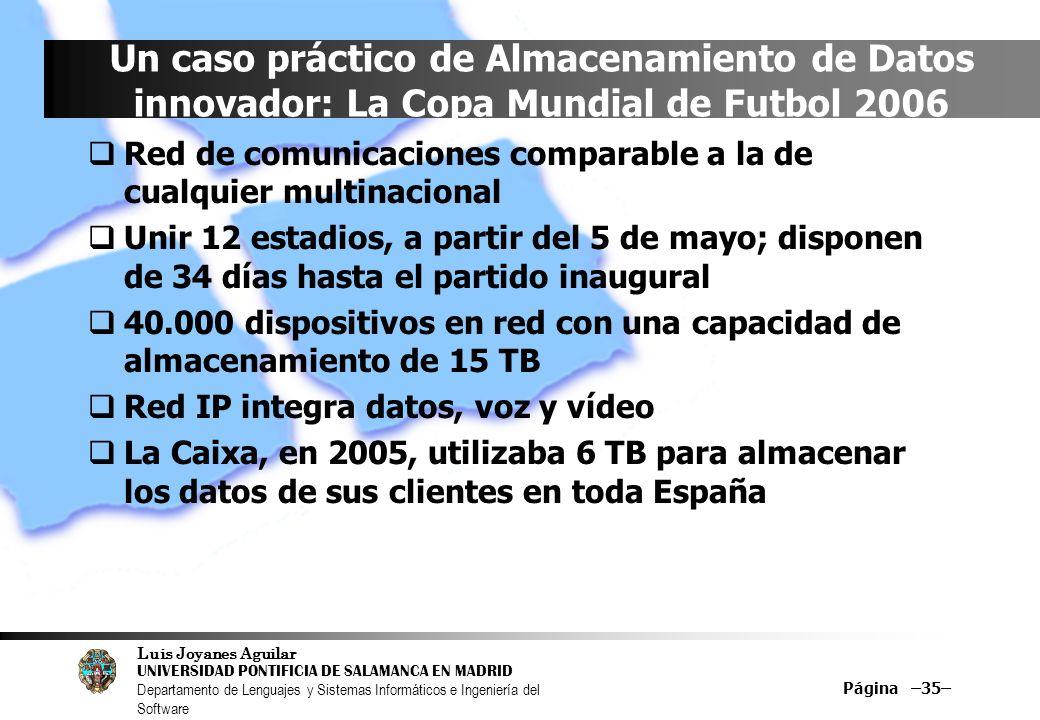 Un caso práctico de Almacenamiento de Datos innovador: La Copa Mundial de Futbol 2006